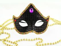 Black carnival mask  Royalty Free Stock Photography