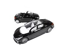 Black cars. Models of black cars isolated on white background Royalty Free Stock Photography