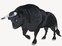 Black Cartoon Bull. Computer generated, 3 dimensional image Royalty Free Stock Image