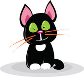 Black cartoon cat Royalty Free Stock Photography