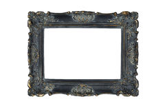 Black carved picture frame Royalty Free Stock Photo