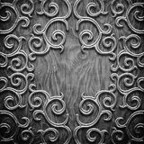 Black carved wooden pattern Stock Photo