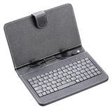 Black case with keyboard for tablet Stock Photo
