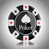 Black casino poker chip Stock Image