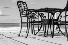 Black Cast Iron Chairs Royalty Free Stock Photography