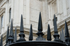 Black cast iron fence Stock Photography