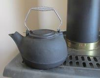 Black Cast Iron Kettle Stock Photos