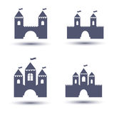 Black castle icons set Royalty Free Stock Photo
