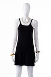Black casual dress on mannequin. Royalty Free Stock Photos