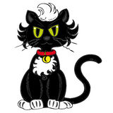 Black cat. Royalty Free Stock Image