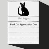 Black Cat Appreciation Day Royalty Free Stock Photography