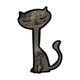 Black cat cartoon character Royalty Free Stock Photo