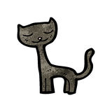 Black cat cartoon character Royalty Free Stock Image