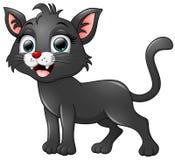 Black cat cartoon isolated on white background Stock Images