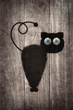 Black cat cartoon Royalty Free Stock Image