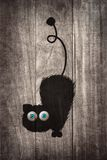 Black cat cartoon Royalty Free Stock Photography