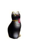 Black cat figurine from clay Royalty Free Stock Images