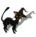 Black cat for Halloween design Stock Photos