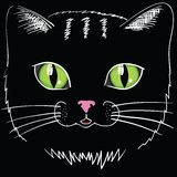 Black cat head Royalty Free Stock Photography