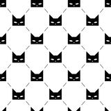 Black cat heads seamless pattern. Black cat heads  on white background seamless pattern. Vector illustration Stock Photos