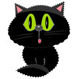 Black cat icon. cartoon pet illustration Royalty Free Stock Photo