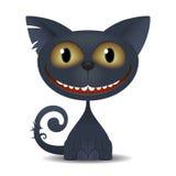 Black  Cat. Illustration of Black cat for web design Stock Photography