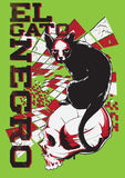 Black cat. Illustrator vector format Stock Images