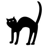 Black cat isolated on white vector Royalty Free Stock Photos