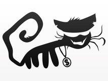 Black cat isolated on white. Royalty Free Stock Image