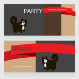 Black cat. Party Design template with black cat, vector illustration Royalty Free Stock Photography
