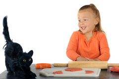 Black Cat Scare Royalty Free Stock Images