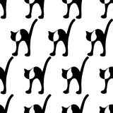 Black cat seamless Stock Images