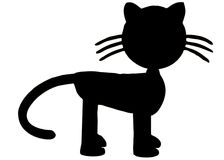 Black Cat Silhouette Royalty Free Stock Photo