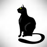 Black Cat Silhouette Royalty Free Stock Images