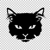 Black cat silhouette tattoo Royalty Free Stock Images
