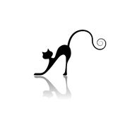 Black cat silhouette for your design Stock Image