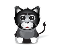 Black cat sitting Stock Images