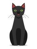 Black cat sitting,  Stock Image