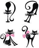 Black cat. Vector illustration  Royalty Free Stock Photo