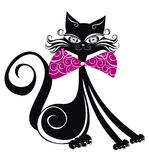 Black cat. Vector illustration  Royalty Free Stock Photos