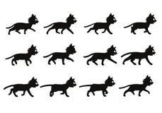 Black Cat Walking Sprite royalty free illustration