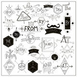 Black catchwords symbols on whiteboard Royalty Free Stock Photography