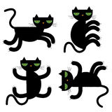 Black cats  illustration Stock Photo