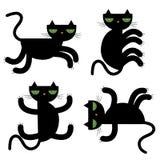 Black cats  illustration Stock Photo