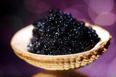 Black caviar Royalty Free Stock Photo