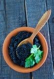 Black caviar Stock Photos