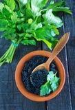 Black caviar Stock Images