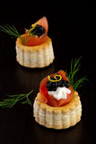 Black Caviar Canape Royalty Free Stock Image