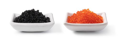 Black caviar. On the white background royalty free stock images