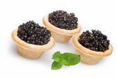 Black caviar isolated on white Stock Photo